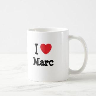 Amo el personalizado del corazón de Marc personali Taza