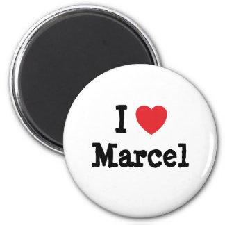 Amo el personalizado del corazón de Marcelo person Imanes De Nevera