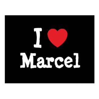 Amo el personalizado del corazón de Marcelo person Postales