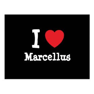 Amo el personalizado del corazón de Marcelo person Tarjetas Postales