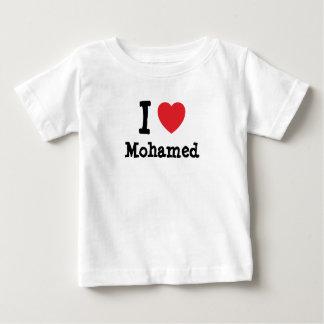 Amo el personalizado del corazón de Mohamed Playera
