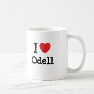 Amo el personalizado del corazón de Odell personal Taza Básica Blanca