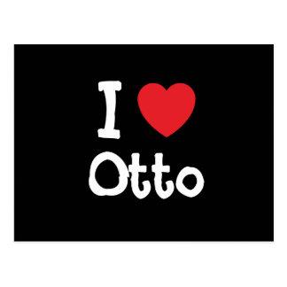 Amo el personalizado del corazón de Otto Postales