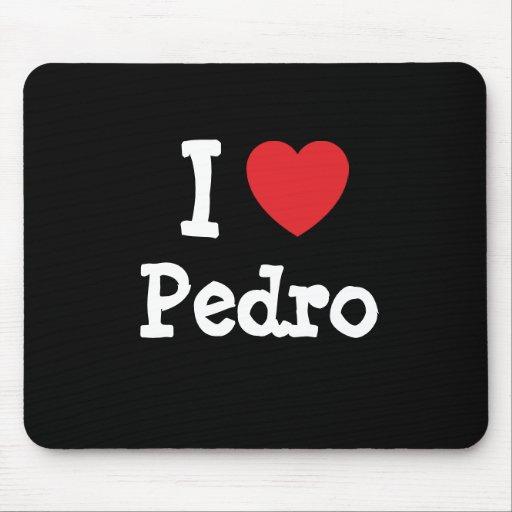 Amo el personalizado del corazón de Pedro personal Mousepad