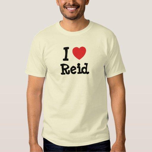 Amo el personalizado del corazón de Reid Camisas