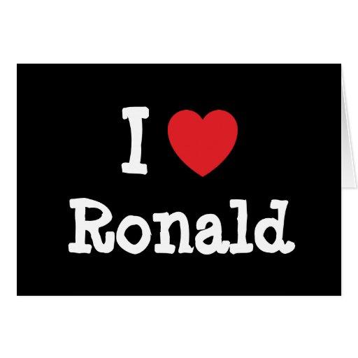 Amo el personalizado del corazón de Ronald persona Tarjeton