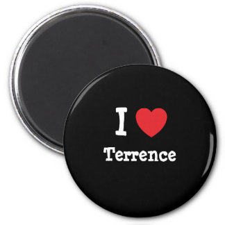 Amo el personalizado del corazón de Terrence perso Imán Redondo 5 Cm