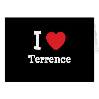 Amo el personalizado del corazón de Terrence perso Tarjeta De Felicitación