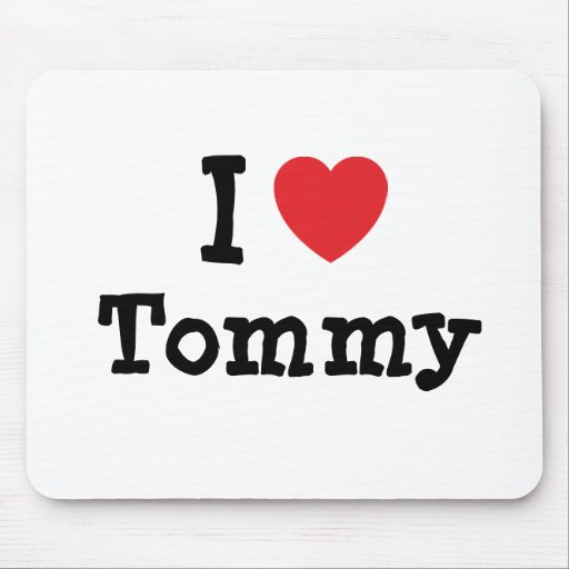 Amo el personalizado del corazón de Tommy personal Tapete De Ratones