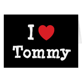 Amo el personalizado del corazón de Tommy personal Tarjetas
