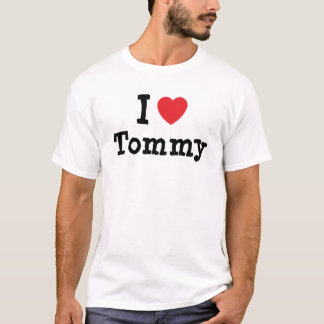 Amo el personalizado del corazón de Tommy Playera