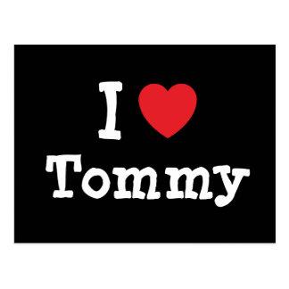 Amo el personalizado del corazón de Tommy Postal