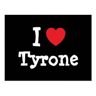 Amo el personalizado del corazón de Tyrone Postales