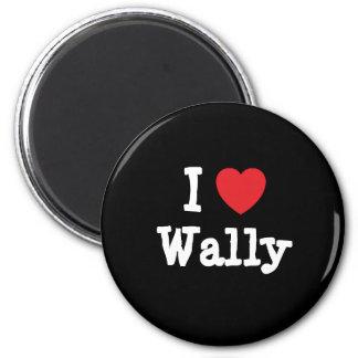 Amo el personalizado del corazón de Wally personal Imán Redondo 5 Cm