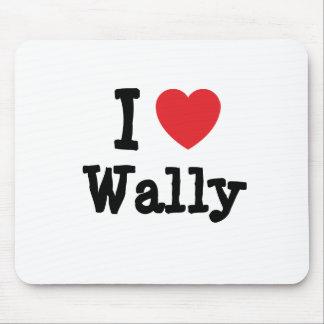 Amo el personalizado del corazón de Wally personal Tapete De Raton