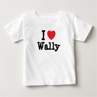 Amo el personalizado del corazón de Wally Playera Para Bebé