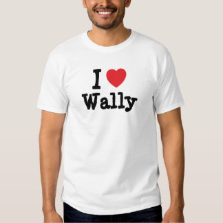 Amo el personalizado del corazón de Wally Playeras