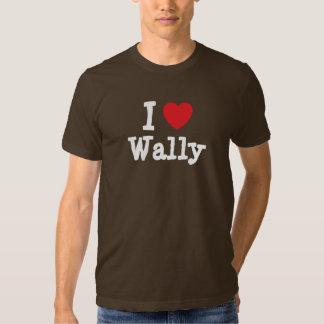 Amo el personalizado del corazón de Wally Poleras