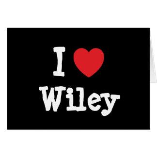 Amo el personalizado del corazón de Wiley personal Felicitaciones