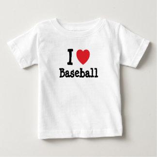 Amo el personalizado del corazón del béisbol t shirts