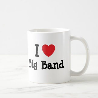 Amo el personalizado del corazón del big band pers tazas de café
