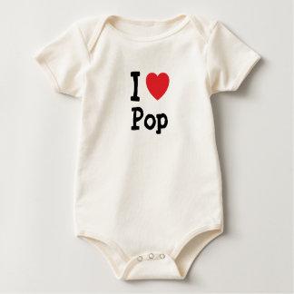 Amo el personalizado del corazón del estallido body para bebé