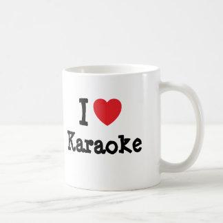 Amo el personalizado del corazón del Karaoke perso Taza Básica Blanca