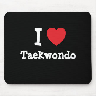 Amo el personalizado del corazón del Taekwondo per Tapete De Ratones