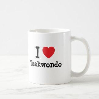 Amo el personalizado del corazón del Taekwondo Taza
