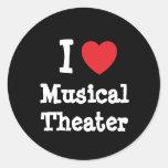 Amo el personalizado del corazón del teatro musica etiquetas