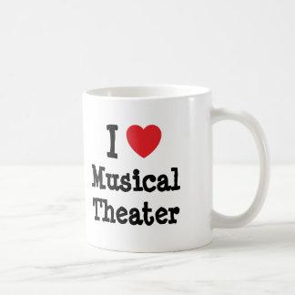 Amo el personalizado del corazón del teatro taza