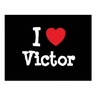Amo el personalizado del corazón del vencedor pers tarjeta postal
