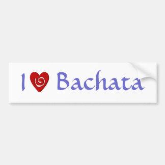 Amo el personalizado latino del baile del corazón  pegatina de parachoque
