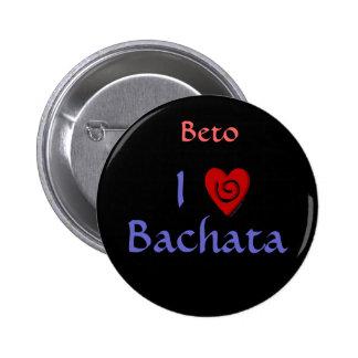Amo el personalizado latino del baile del corazón  pin
