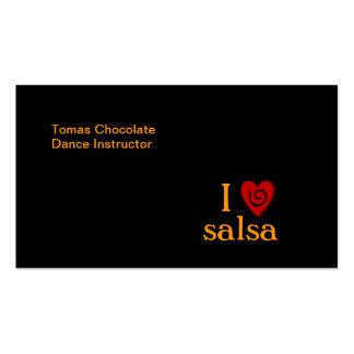 Amo el personalizado latino del baile del corazón tarjetas de visita