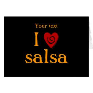 Amo el personalizado latino del baile del corazón tarjeta de felicitación