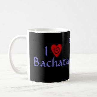 Amo el personalizado latino del baile del corazón  taza de café