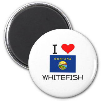 Amo el pescado blanco Montana Imán Redondo 5 Cm