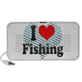 Amo el pescar altavoces de viajar