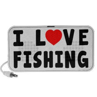 Amo el pescar portátil altavoz