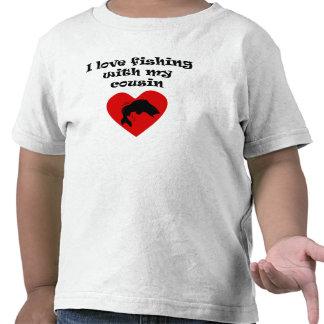 Amo el pescar con mi primo camiseta