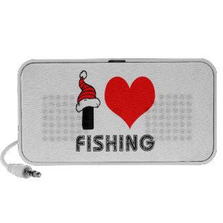 Amo el pescar de diseño altavoces de viaje
