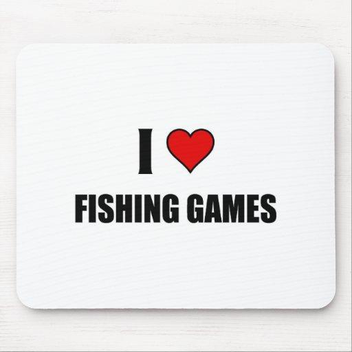 Amo el pescar de juegos tapetes de ratón