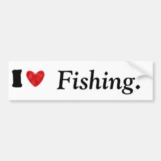 Amo el pescar de la pegatina para el parachoques pegatina para auto