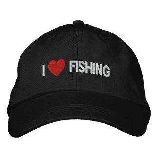 Amo el pescar del gorra bordado gorras de beisbol bordadas