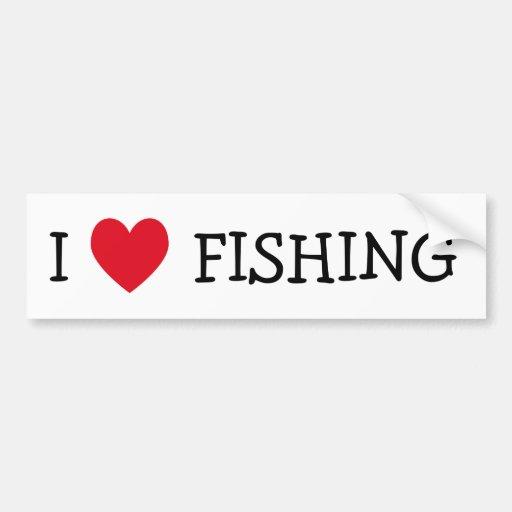 Amo el pescar etiqueta de parachoque