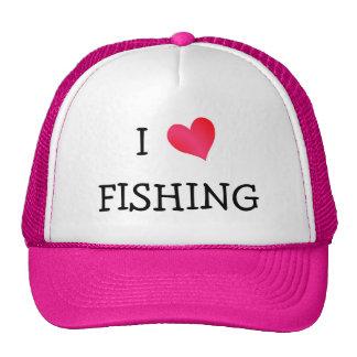 Amo el pescar gorro de camionero