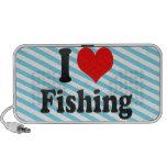 Amo el pescar laptop altavoz