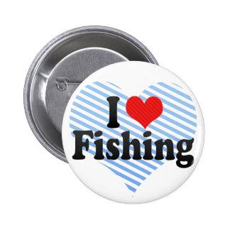 Amo el pescar pin