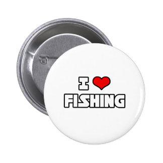 Amo el pescar pin redondo 5 cm
